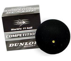 Dunlop single yellow dot Pro Squash ball