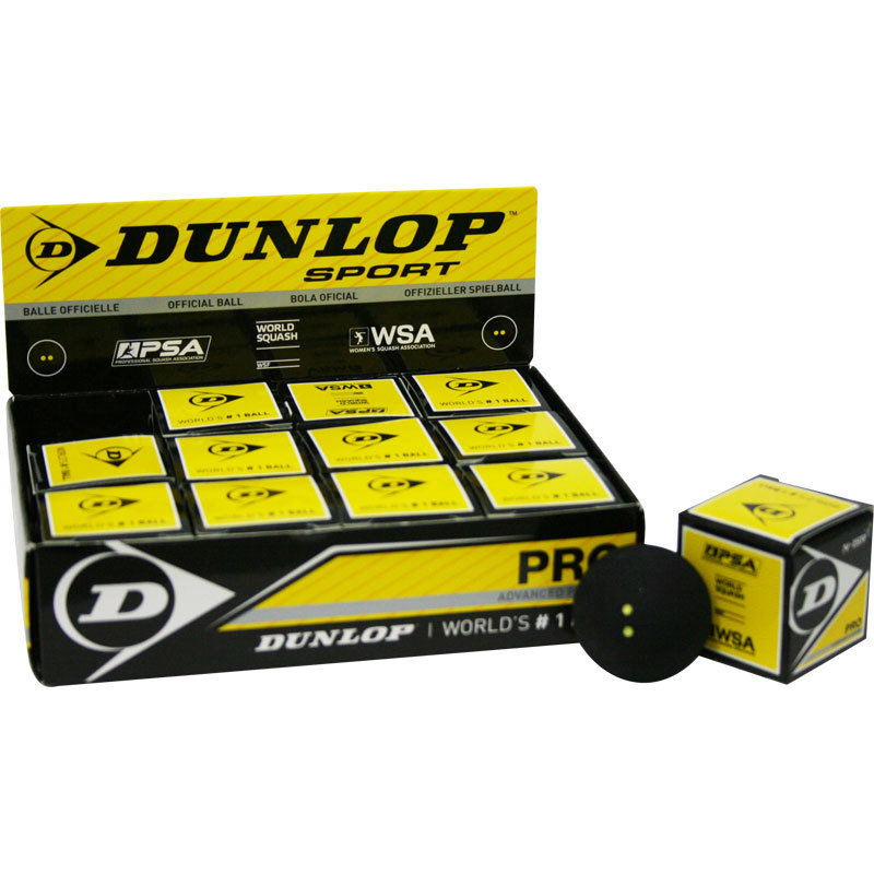 Dunlop 2 yellow dot Pro Squash ball