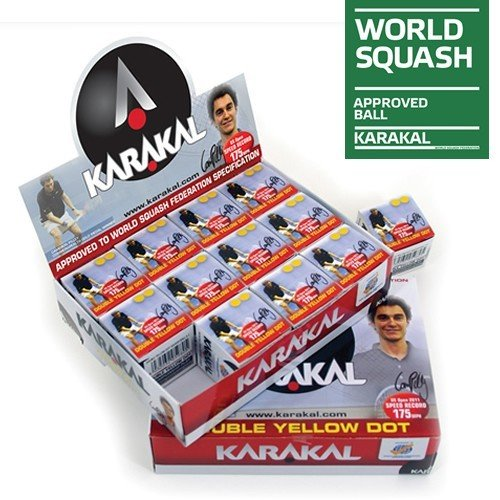 Karakal Double Yellow Dot Squash Balls