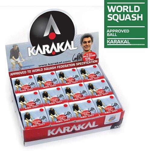 Karakal Red Dot Squash Balls