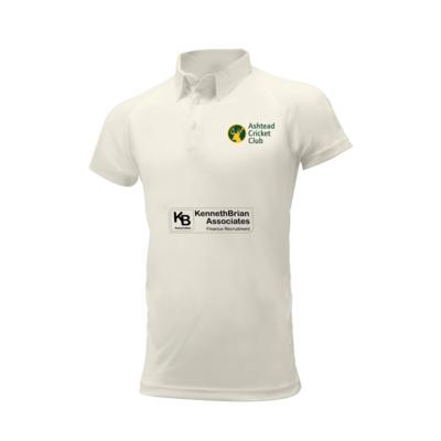 Ashtead Cricket Club embroidered short sleeve white shirt