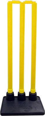 Yellow plastic return wickets