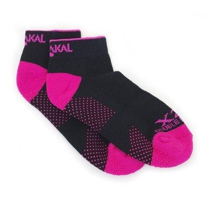 Karakal X2+ Ladies Trainer Socks - Black and Hot Pink