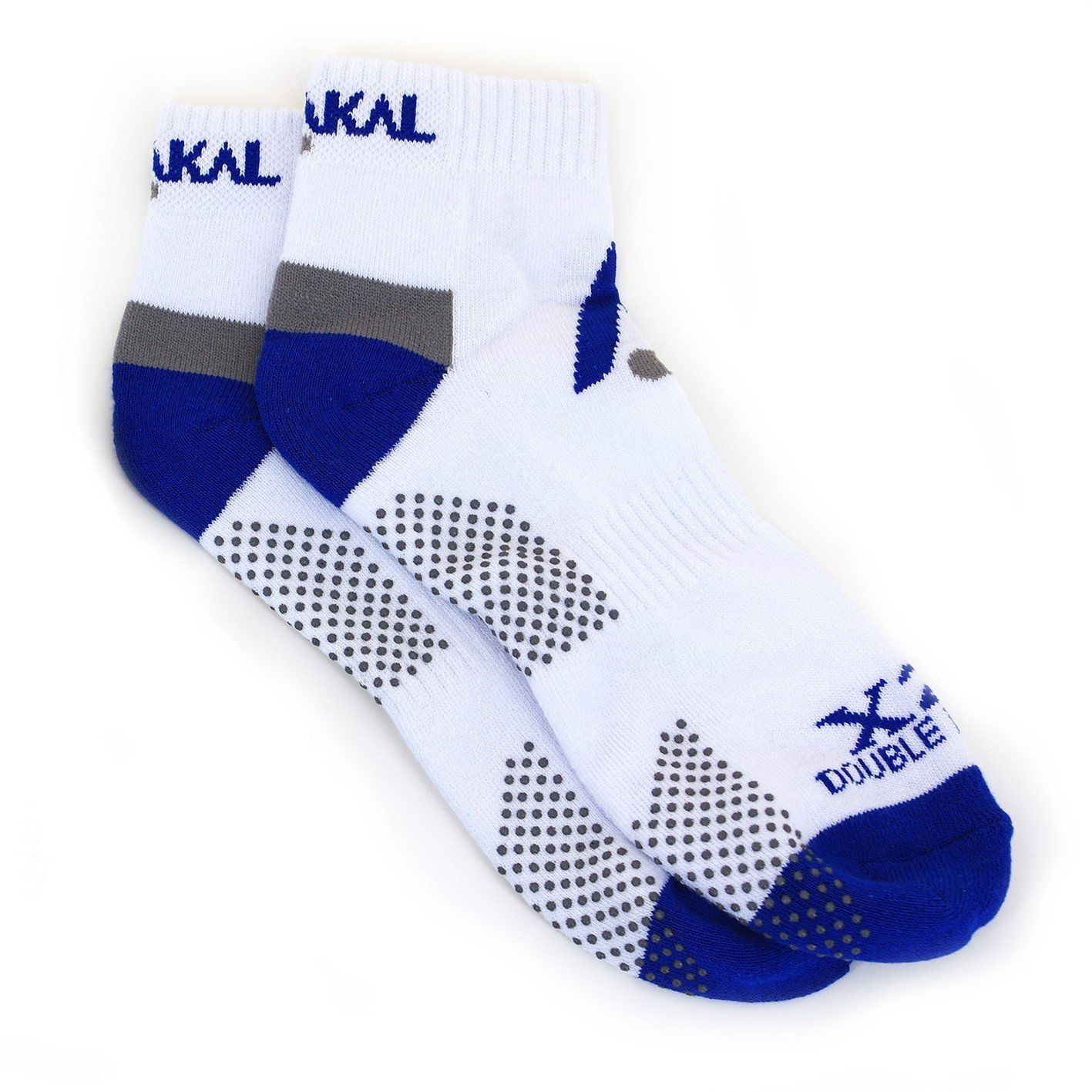 Karakal X2+ Mens Trainer Socks - White and Blue