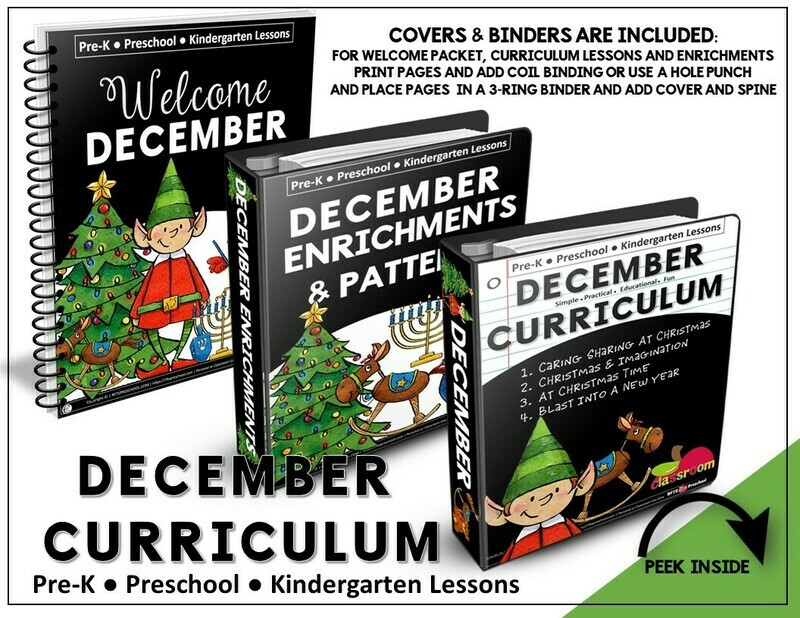 DECEMBER PREK-KINDERGARTEN CURRICULUM