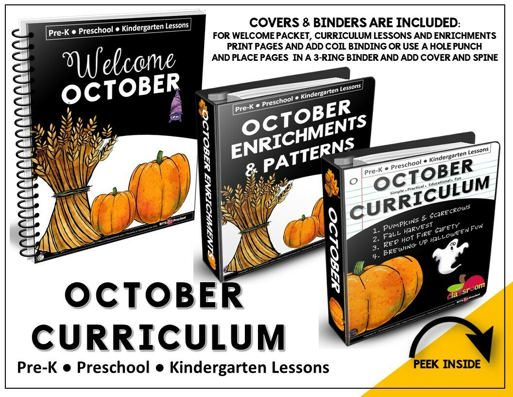 OCTOBER PREK-KINDERGARTEN CURRICULUM