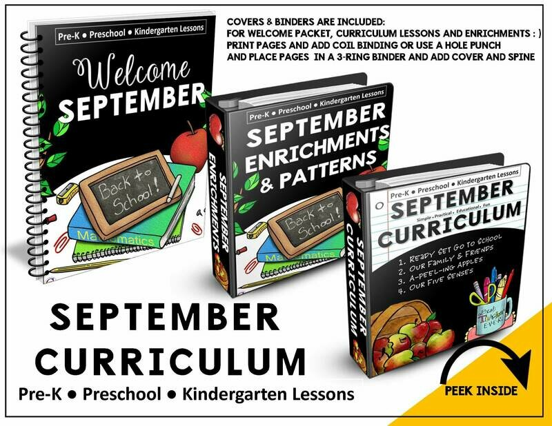 SEPTEMBER PREK-KINDERGARTEN CURRICULUM
