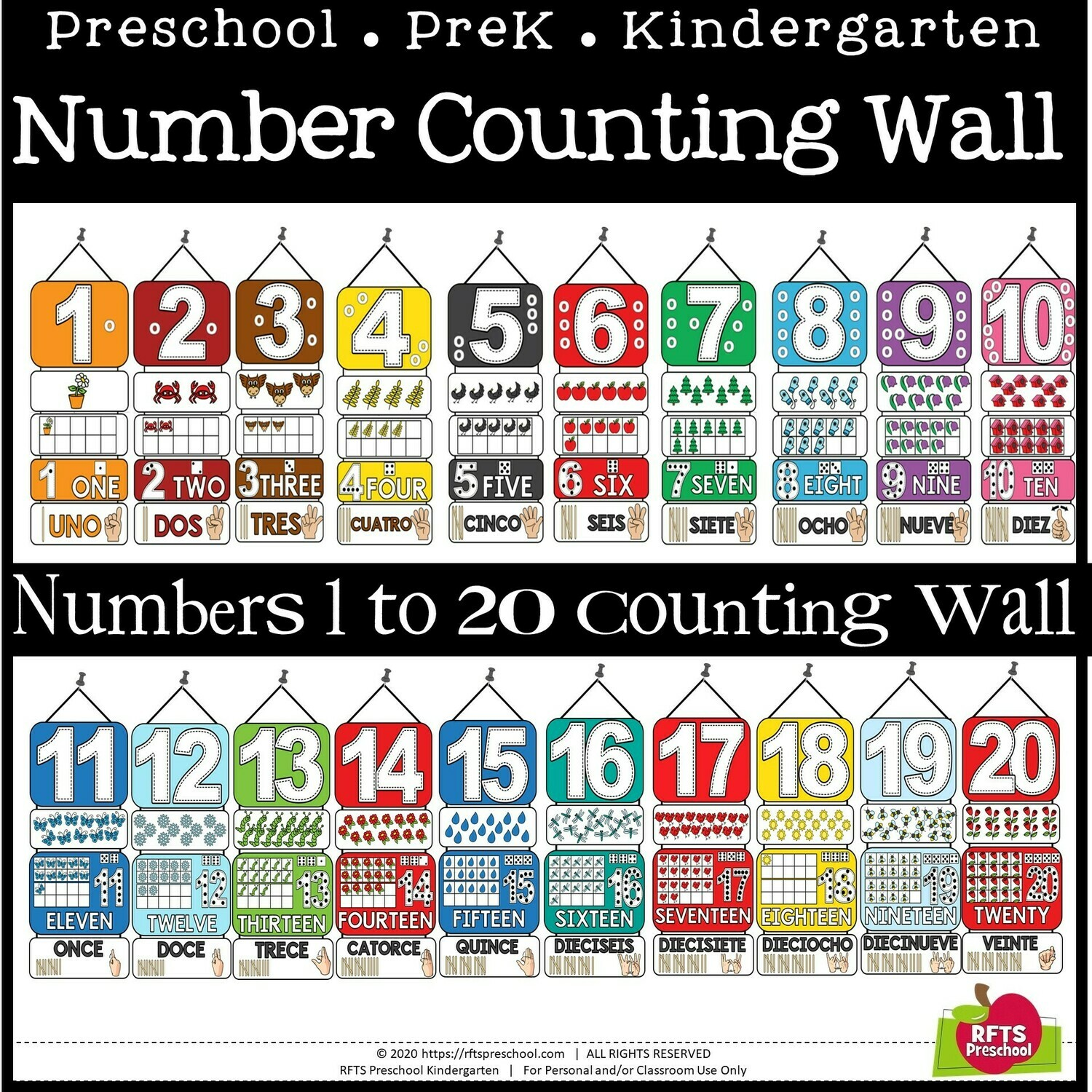 CLASSROOM COUNTING - NUMBERS 1 TO 20