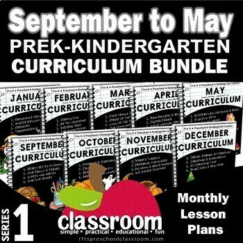CANADIAN VERSION September to May Kindergarten Curriculum Bundle [9 Months] Series 1