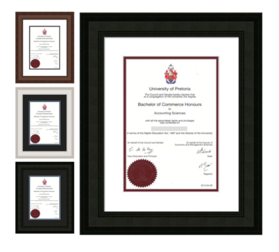 205 Profile Degree / Diploma A4 - A3 Frame with mount