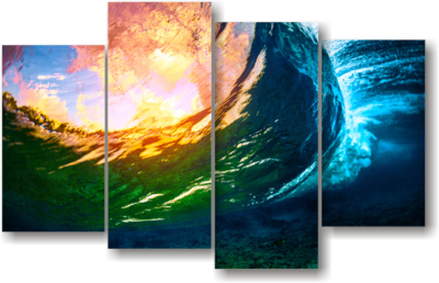 """Eye of the wave"" Split canvas"
