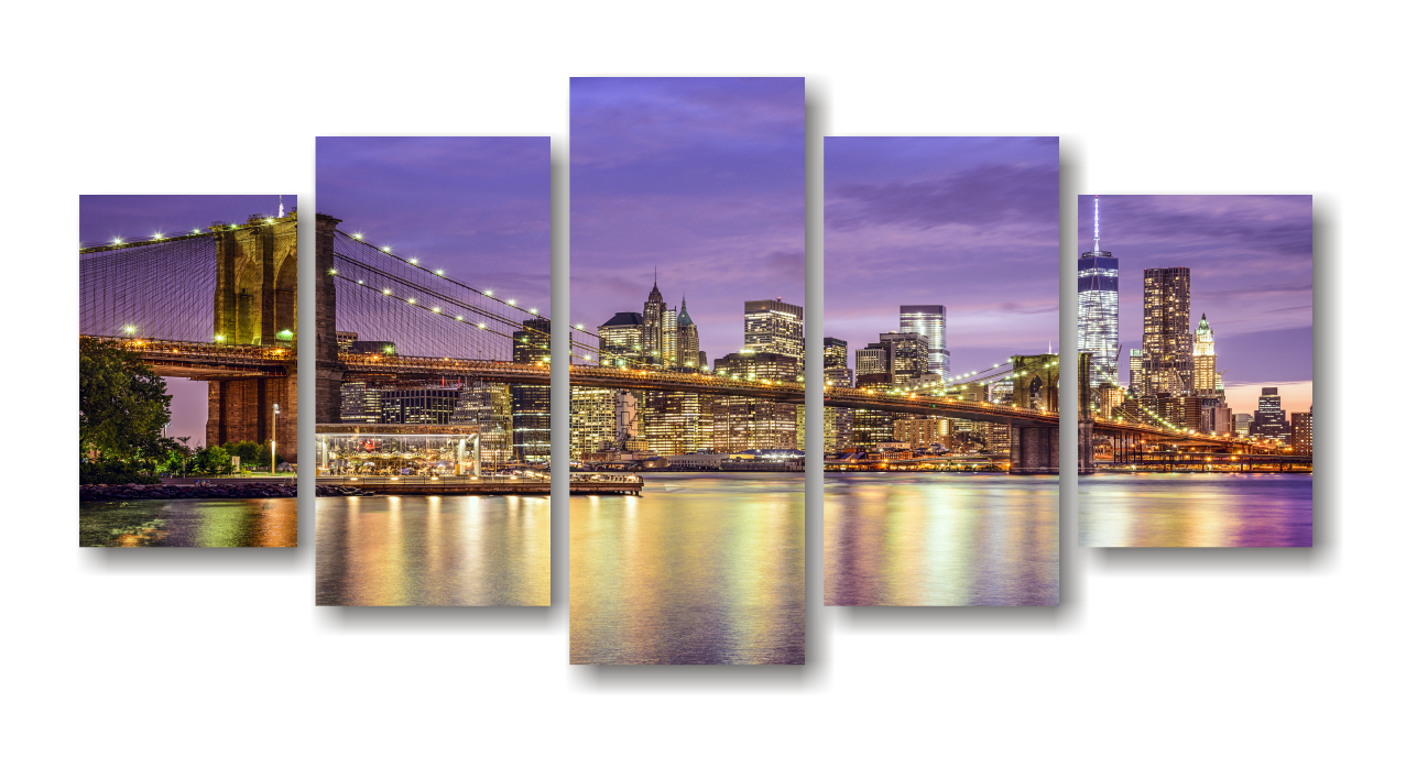 Brooklyn Bridge Split Canvas Print