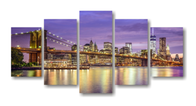 Brooklyn Bridge Split Canvas Print