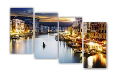Venice Split Canvas Print
