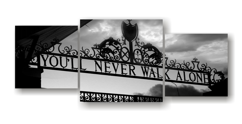 Never Walk Alone - Split Canvas Print
