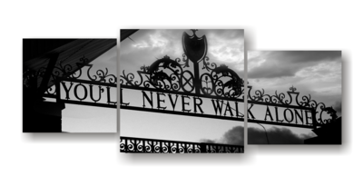 Never Walk Alone - Split Canvas Print