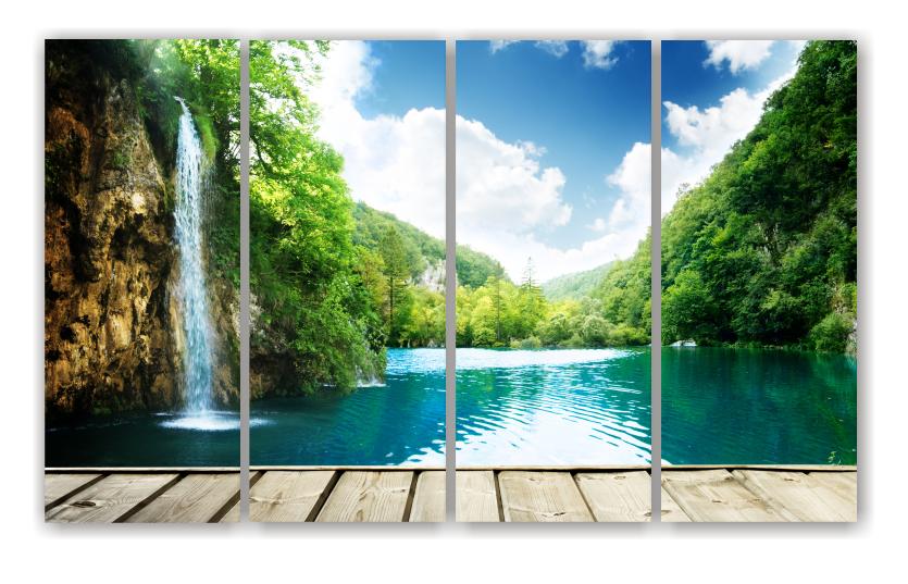 Waterfall Scene - Split Canvas Print