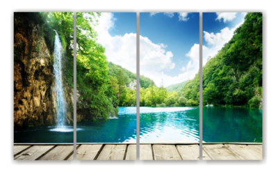 Waterfall Scene - Split Canvas Print