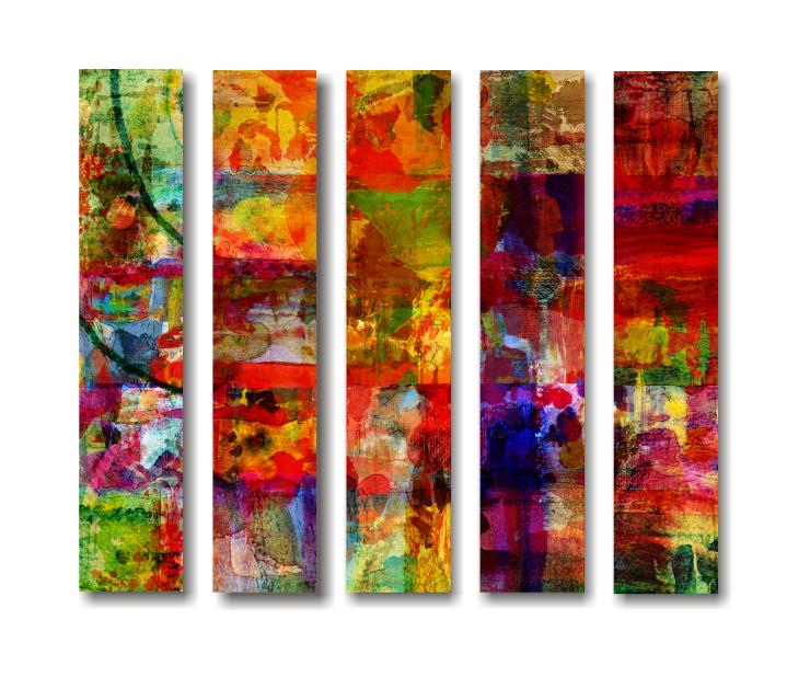 Abstract Artwork on Split Canvas Print