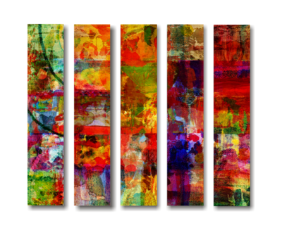 Abstract Artwork on Split Canvas Print
