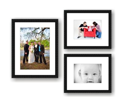 Custom modern portrait photo frames