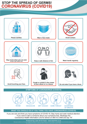 Workplace - Coronavirus Safety Awareness Poster - A2