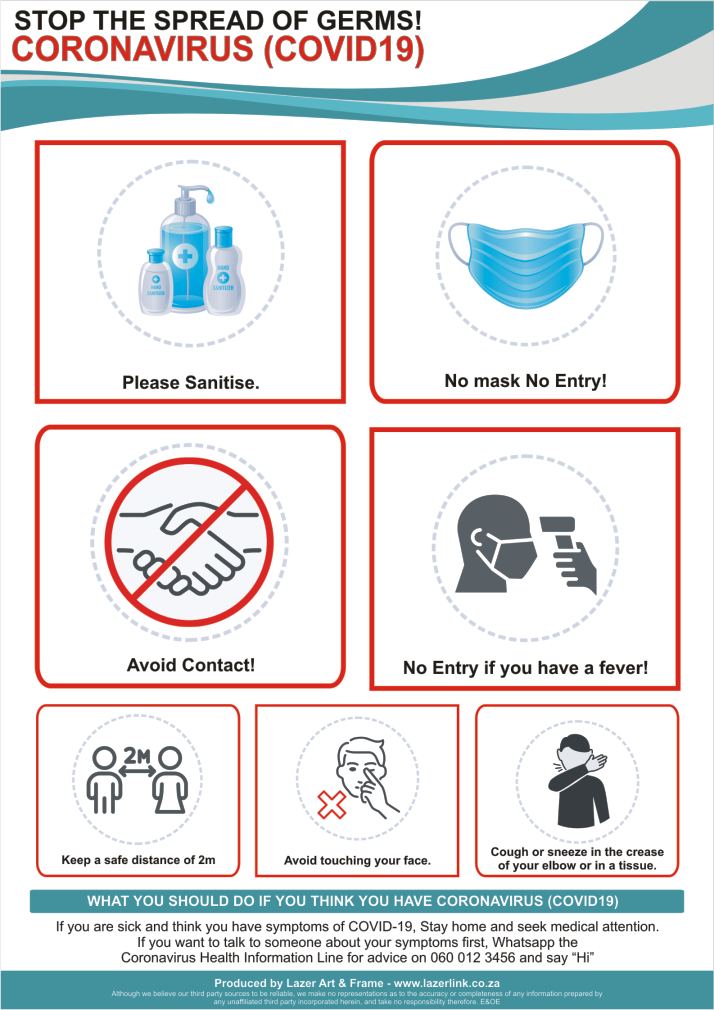 Entry Requirements - Coronavirus Safety Awareness Poster - A2