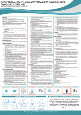 Workplace - Covid Poster - A1 - Disaster Management Act