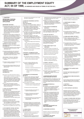 Employment Equity Act Poster - A1 Laminated (2020)