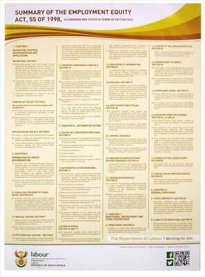 Employment Equity Act Poster - A1 Laminated (2021)