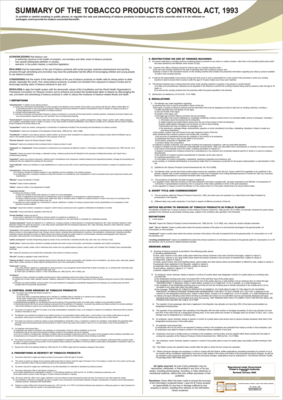 Tobacco Act - A1 Laminated Poster (2021)