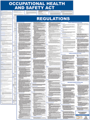 Occupational Health & Safety A1 Laminated - 2021