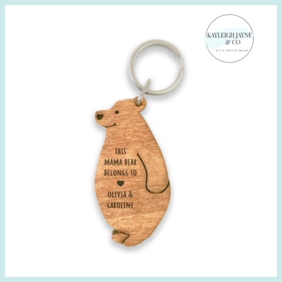 Mamma Bear Personalised Keyring