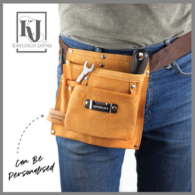 Personalised Heavy Duty Leather Tool Belt