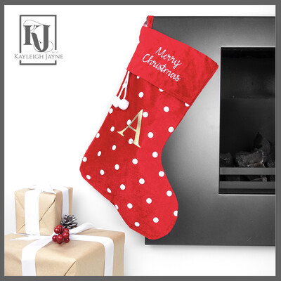 Polka Dot Christmas Stocking