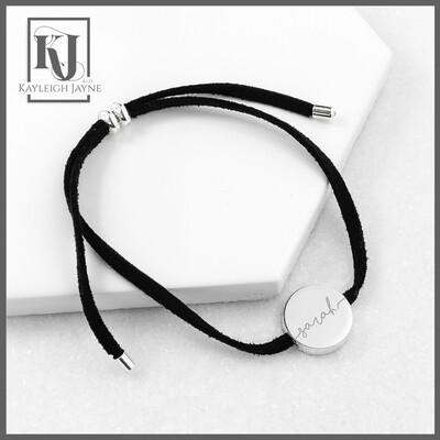 Always With You Black Personalised Bracelet