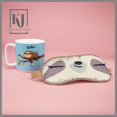 Sloth Gift Set - Sloth Mug With Eye Mask