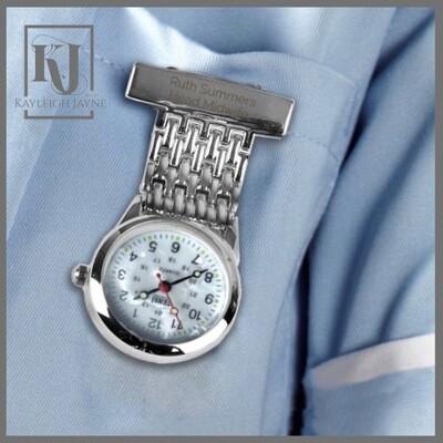 Personalised Nurses Fob Watch