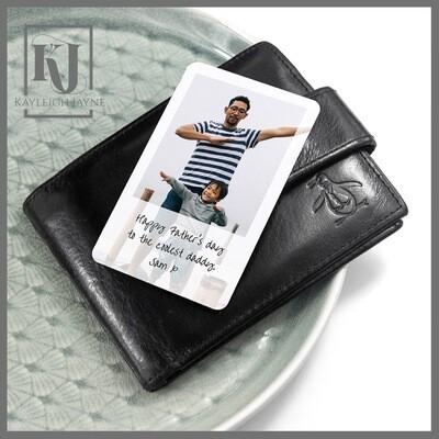 Personalised Photo Metal Wallet Keepsake