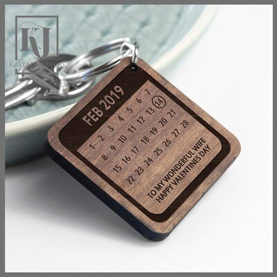 Date To Remember Personalised Keyring