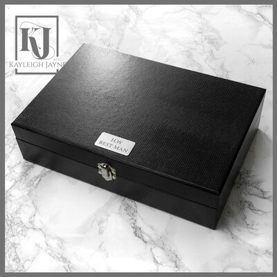 Personalised Watch & Cufflinks Box