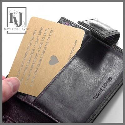 Pocket Full Of Love Metal Note