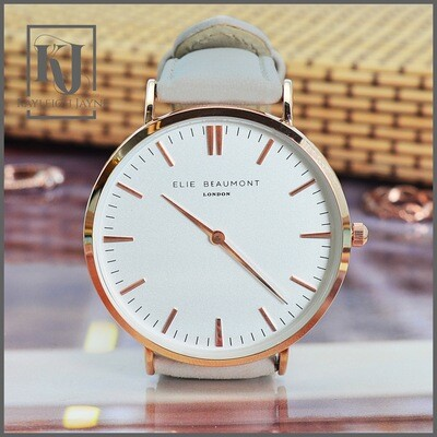 Ladies Modern - Vintage Stone Colour Genuine Leather Personalised Watch