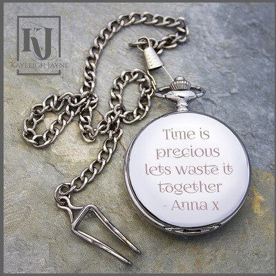 Personalised Silver Plated Pocket Watch