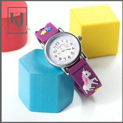 Children's Tell The Time Unicorn Watch