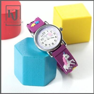 Children's Tell The Time Unicorn Watch