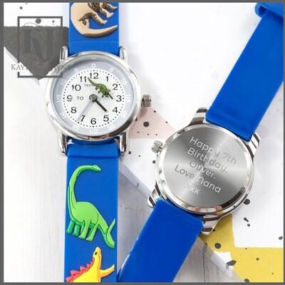 Children's Dinosaur Personalised Watch
