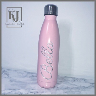 Personalised Water Bottle - With Crystals from Swarovski®