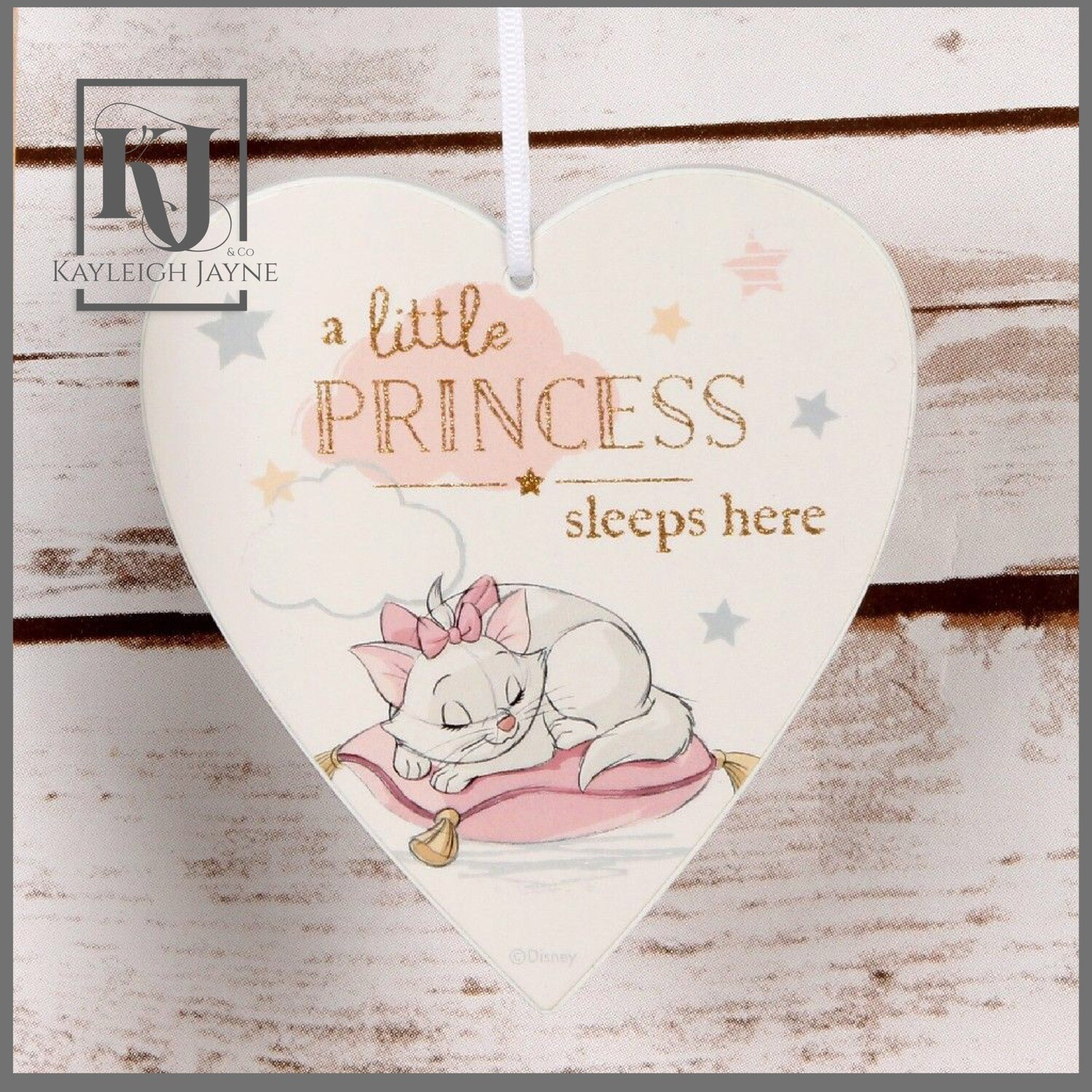 DISNEY MAGICAL BEGINNINGS HEART PLAQUE - LITTLE PRINCESS