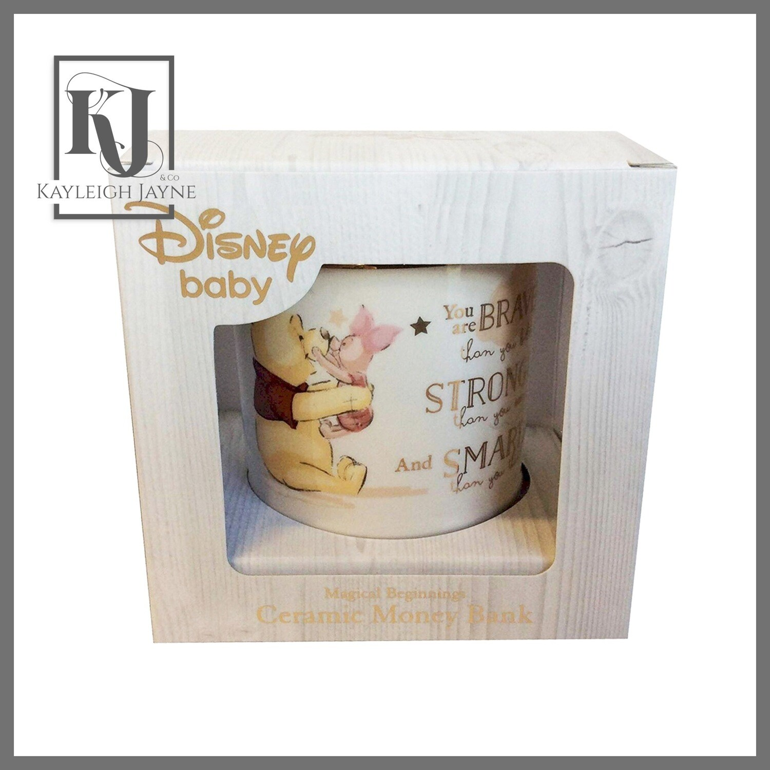 DISNEY MAGICAL BEGINNINGS CERAMIC MONEY BANK - WINNIE THE POOH (Can be personalised)